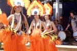 Women, Grass Skirts, coconut bras, drum, Hula, Hawaiian, EDAV04P05_18
