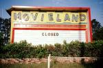 drive-in, Movieland, Closed, Signage, marquee