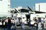 dish, Satellite Transmission, vans, cameras, Loma Prieta Earthquake (1989), 1980's