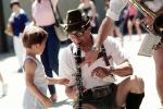 Clarinet, Lederhosen, Man, Boy, Hat