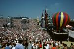 JFK Stadium, Live Aid Benefit Concert, 1985, Philadelphia, Audience, People, Crowds, Spectators, EMCV01P06_12