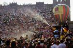 Water Spray, Audience, People, Crowds, JFK Stadium, Live Aid Benefit Concert, Philadelphia, Spectators, 1985, EMCV01P08_14