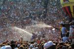 Water Spray, Audience, People, Crowds, JFK Stadium, Live Aid Benefit Concert, Philadelphia, Spectators, 1985, EMCV01P09_02