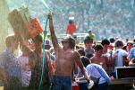 Water Spray, hot, cooling off, Spectators, Audience, People, Crowds, JFK Stadium, Live Aid Benefit Concert, 1985, EMCV01P09_13