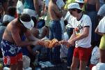 Audience, People, Crowds, Spectators, cut-off jeans, JFK Stadium, Live Aid Benefit Concert, 1985, Philadelphia, EMCV01P10_11