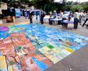 street chalk painting, artwork, sidewalk