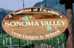 Sonoma Valley, California, Sign, Marker