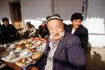 Men, man, mustache, eating, food, sitting, Samarkand