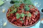 Crawdads, Crayfish, Table Setting, Glasses, Dill, FDNV01P02_06.0944