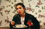 Woman Talking, Soup Bowl, wallpaper, FDNV01P13_15