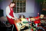 Christmas Party, Woman, Carving, Sushi, WKPI Studios, Beer, Candles, Potrero Hill, FDNV02P07_12