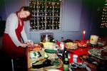 Christmas Party, Woman, Carving, Sushi, WKPI Studios, Beer, Candles, Potrero Hill, FDNV02P07_13
