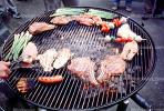 Meat, Steak, Hot Dogs, Vegetables, Shish-Ka-Bob,, Salmon, BBQ, Barbecue, Kentucky Derby Party, FDNV02P08_15