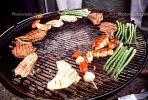 Meat, Steak, Chicken, Hot Dogs, Vegetables, Shish-Ka-Bob,, Salmon, BBQ, Barbecue, Kentucky Derby Party, FDNV02P09_02