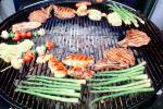 Meat, Steak, Chicken, Asparagus, Vegetables, Shish-Ka-Bob, Salmon, BBQ, Barbecue, Kentucky Derby Party, FDNV02P09_05