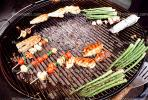 Meat, Steak, Chicken, Asparagus, Vegetables, Shish-Ka-Bob, Salmon, BBQ, Barbecue, FDNV02P09_06