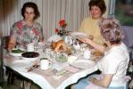 Thanksgiving Dinner, Turkey, table setting, dinner, woman, feast, 1960's, FDNV02P13_18