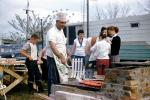 BBQ, Barbecue, Hot Dogs, Chefs Hat, Apron, Man, Male, Grill, Cooking, 1958, 1950s, FDNV03P01_13