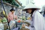 Woman, Women, Hat, Fruit, Saigon, Vietnam, FGAV01P15_08