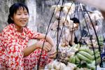 Woman, Smiles, Fruit, Bananas, Saigon, Vietnam, FGAV01P15_09
