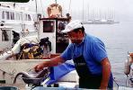 Fish, Seafood, Cleaning, Man, Fisherman, Marseille, France, FGEV01P08_03