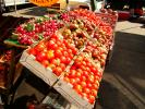 Radishes, Tomatoes, crates, FGND01_059