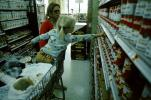 Caucasian, child, children, kids, cute, blonde, Person, Young, Girl, Female, Feminine, lady, Supermarket Aisles, FGNV01P01_06
