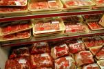Plastic Wrap, Wrapped, Packaging, Racks, Meat Aisle, Grocery Aisle, Supermarket, Supermarket Aisles