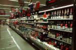 Liquor, Bottles, Hard Liquor, Grocery Aisle, Supermarket, racks full of bottles, Supermarket Aisles