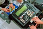 Cash Register, Convenience Store, C-Store, Snack Food, Money, Cash Transaction, Cashier, hands, keypad