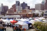 Tents, Booths, office buildings, SOMA, Farmers Market, FGNV02P12_18