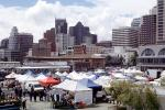 Tents, Booths, office buildings, SOMA, Farmers Market, FGNV02P12_19