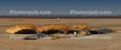 Water Irrigation Pipe Sections, stacked, farmland, sprinklers, Central Valley, FMND04_055