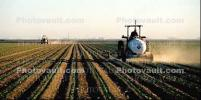Fields, tractor, mechanization, dust, fertilizer, tank, Panorama, Dirt, soil, FMNV02P12_18