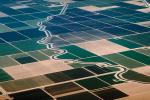 Canal, Aqueduct, Central California, Fields, patchwork, checkerboard patterns, farmfields, FMNV02P14_08.0839