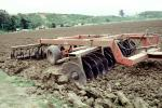 Harrow Disc Plow, Tilling the Soil, Tiller, near Castroville, California, FMNV06P09_02