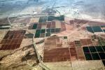 east of, Phoenix, Arizona, patchwork, checkerboard patterns, farmfields, FMNV08P03_06