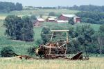 old Hay Swather, barn, outdoors, outside, exterior, rural, building, architecture, Windrower, FMNV08P14_16