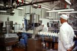 Milk Bottling Plant, Bottles, Men, workers, uniform, job, avocation, FPDV01P01_18