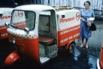 Foremost Dairies, Milk Delivery Truck, motorscooter, three-wheeler, 3-wheeler, triwheeler, Dairy, 1950's, FPDV01P02_15