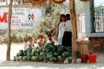 Boys, Girl, eating, Water Melons, Oaxaca, Mexico, FPRV01P05_09