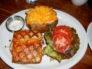 Grilled Fish, Baked Potato, Cheese, Tomato, Tartar Sauce, plate, FRBD01_019