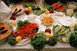 Raw Vegetables, tomatoes, cucumber, croutons, condiments, FTCV01P14_12