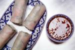 Spring Rolls and Dipping Sauce, Chinese Food, China, Bowl, Plate, Chinese, Asian, Asia, FTCV02P04_06