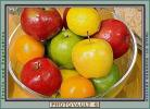 Apple Basket, red, yellow, green, bowl