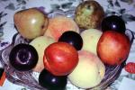 Nectarines, pear, apple, plum, texture, background, FTFV01P14_14