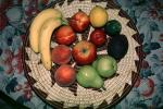fruit bowl, apple, pear, peach, lemon, lime,, FTFV02P02_12B