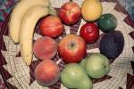 fruit bowl, apple, pear, peach, lemon, lime,, FTFV02P02_14