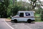 Post Office Truck, Sonoma County, California, Mail Delivery Vehicle, package delivery, Commerical-shipping