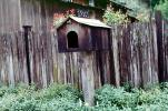 Mailbox, 19251, mail box, bird house, fence, wood, wooden, fence, GCPV01P05_02